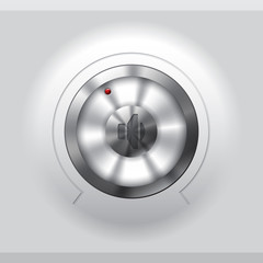 Cool metallic volume knob design