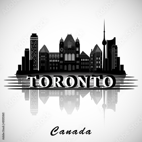 Modern Toronto City Skyline Design. Canada