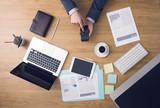 Businessman at work - 81016099