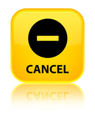 Cancel yellow square button
