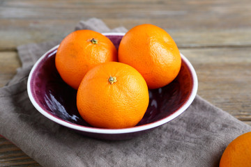 Sweet Tangerines in a bowl
