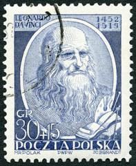POLAND - 1952: shows Leonardo di ser Piero da Vinci (1452-1519)