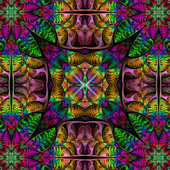 Symmetrical multicolored pattern of the leaves. Collection - tre