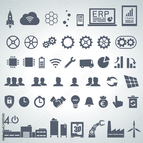 Zdjęcia na płótnie, fototapety, obrazy : industry icon set 1