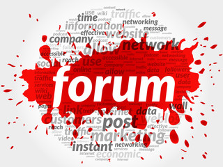 Forum business concept in word tag cloud