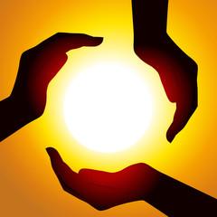 Mains energie x3 Soleil