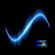 Wave shaped sound waveform