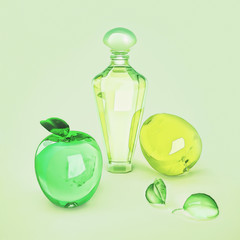 The composition of the various  fruit shape and perfume.