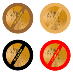 Stickers for wheat free products