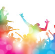 Abstract Summer Music festival Crowd Cheering. - 81019260