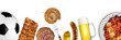 grilled meat soccer background - 81020237