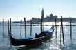 Venedig, Gondel vor San Giorgio Maggiore