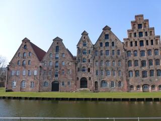 Häuserfront in Lübeck