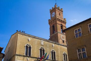 Torre nel centro storico di Pienza