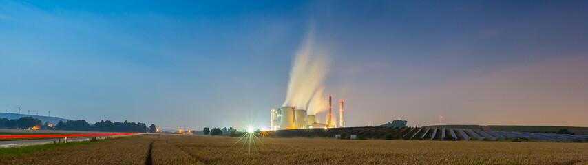 Braunkohlekraftwerk Weisweiler panorama