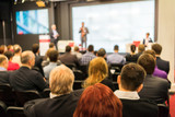 Back view of audience in a business conference