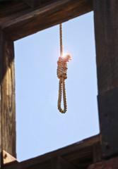 A Hangman's Noose Through an Open Window