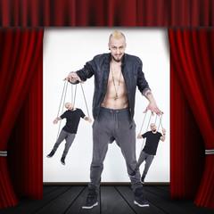 Marionette Man in Teatre