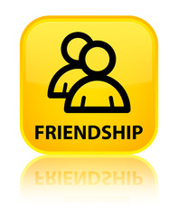 Friendship (group icon) yellow square button