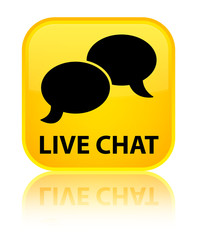 Live chat yellow square button