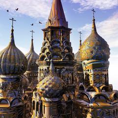 Fantasy Palace at sunset