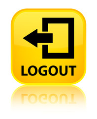 Logout yellow square button