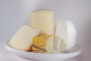 Variety of cheese.