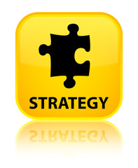 Stratagy (puzzle icon) yellow square button