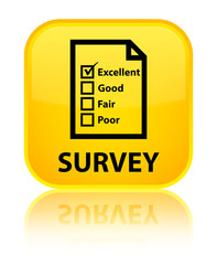 Survey (questionnaire icon) yellow square button