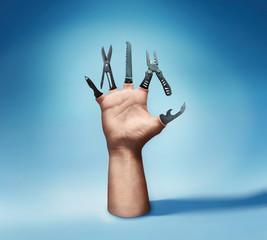 Multitool hand