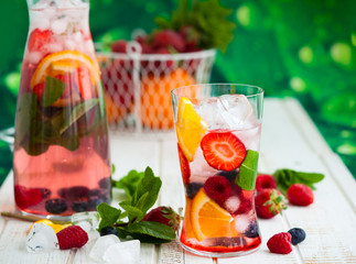 Fruit and berry punch