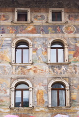 Facade of an ancient building, Trento