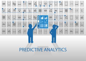 Predictive analytics illustration information dashboard