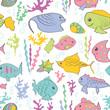 Cartoon sea fish - 81027667