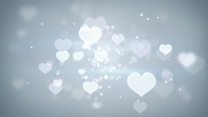 heart shapes bokeh loopable romantic background