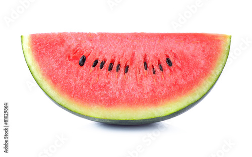 Canvas Keuken Slice of watermelon on white background