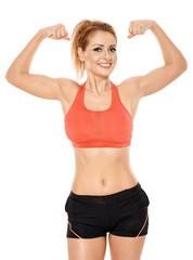 Athletic woman in sportswear
