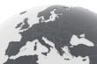 Erde Europa Länder - dunkelgrau hellgrau - 81030484