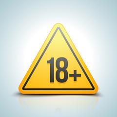 18 plus sign