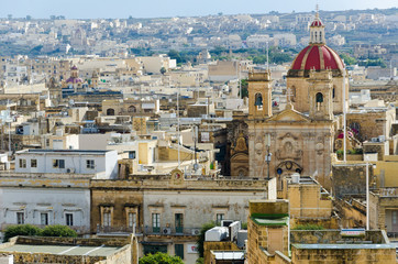 View over the city of Victoria (Rabat) at Gozo