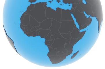 Erde Afrika Länder - dunkelgrau blau