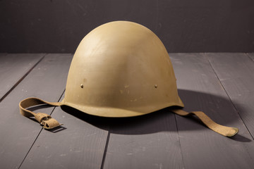 Military green helmet