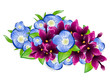 Lilac and Forget-me-not Flower