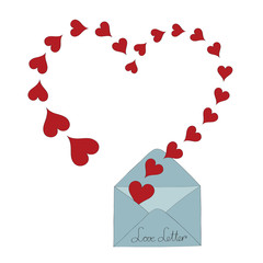 Love letter vector illustration