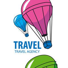 vector logo balloon flying Travel