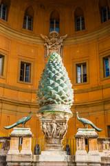 The Fontana della Pigna (The Pine cone fountain) in Vatican, Rom