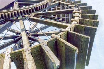 Ancient water wheel detail