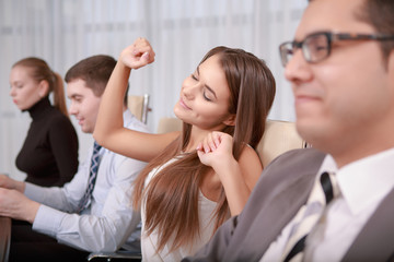 Female business professional at the meeting