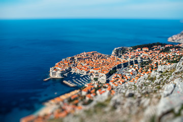 Dubrovnik city top view