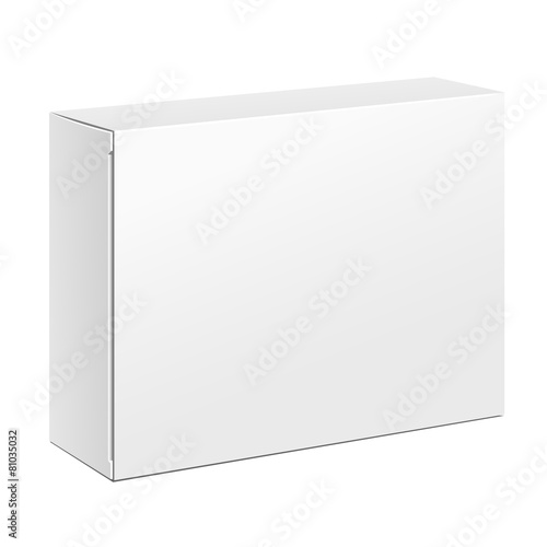 Fototapeta White Product Cardboard Package Box